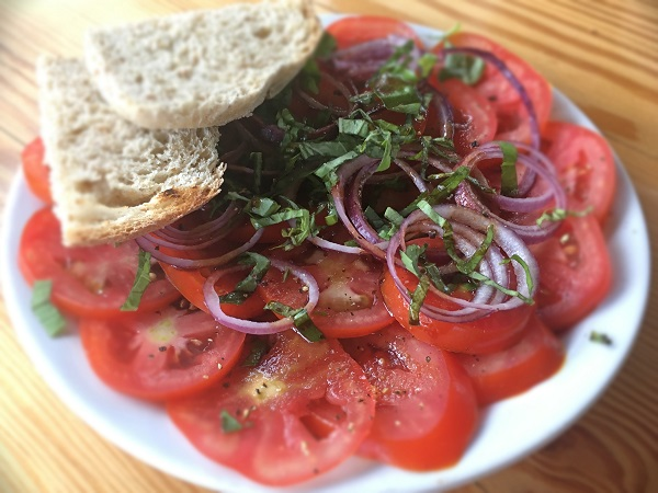 Marinated Basil and Tomato Salad