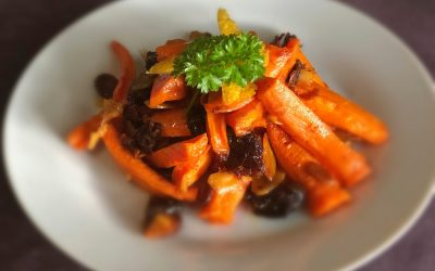 Roasted Carrot, Date & Almond Salad