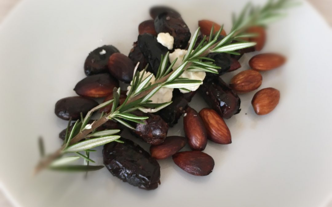 Roasted Almonds with Dates and Rosemary