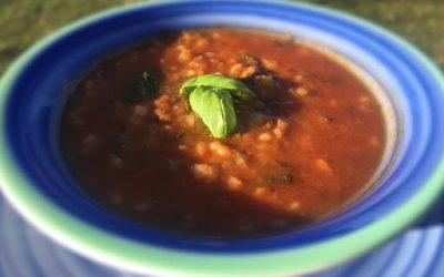 Tomato, Basil and Barley Soup