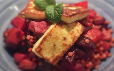 Beetroot & Haloumi Couscous Salad