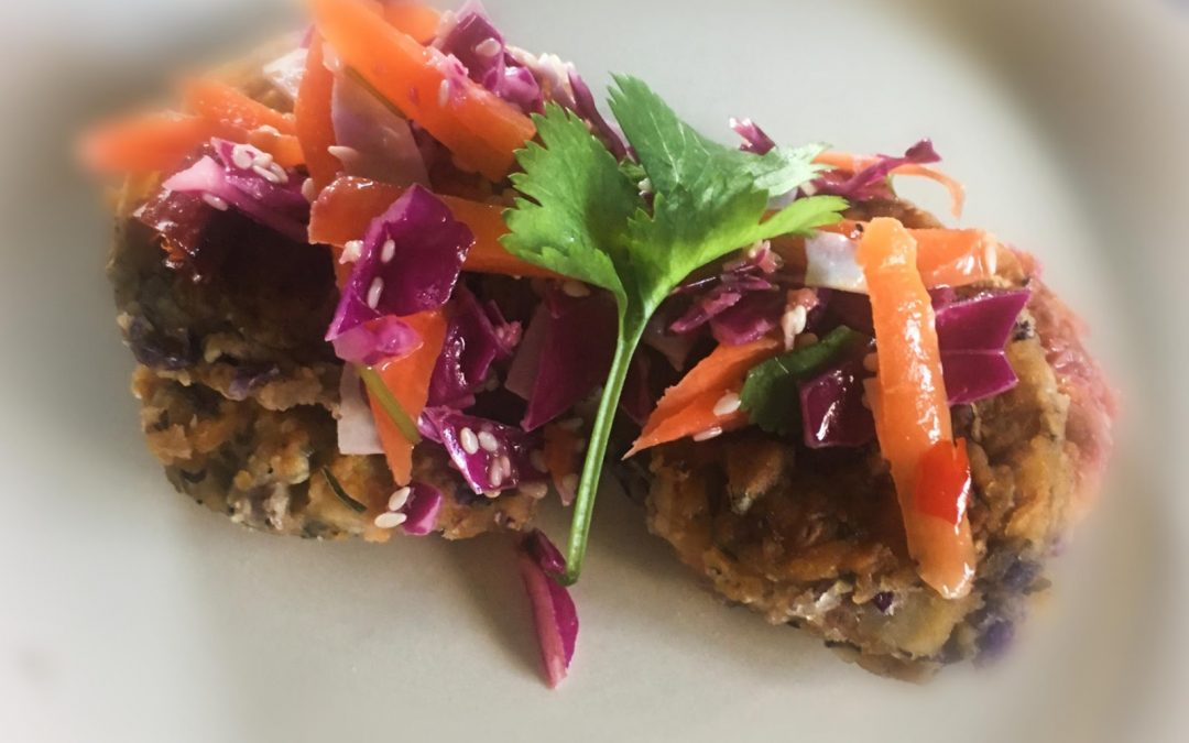 Vegan Red Cabbage and Carrot Patties